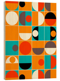 Wood print  Panton Pop - Mandy Reinmuth