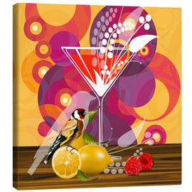 Canvas print  Vintage Birdy Cocktail I - Mandy Reinmuth