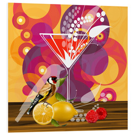 Foam board print  Vintage Birdy Cocktail I - Mandy Reinmuth
