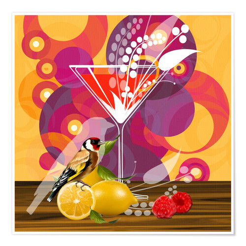 Premium poster Vintage Birdy Cocktail I