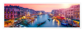 Premium poster Venice panorama at sunset