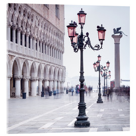 Acrylic glass  St. Mark's Square in Venice in Winter - Jan Christopher Becke