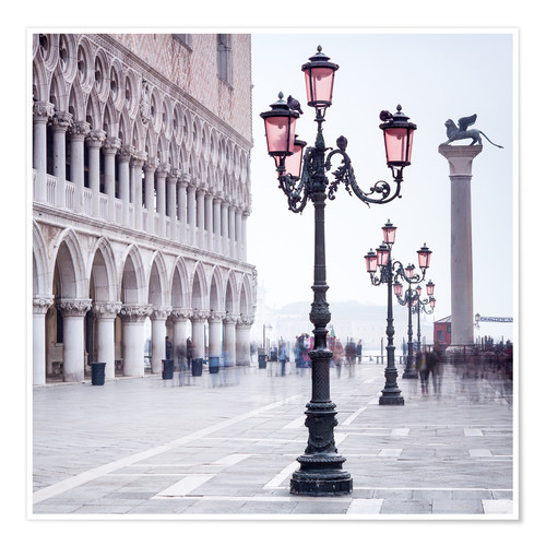 Premium poster St. Mark's Square in Venice in Winter