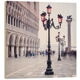 Wood print  St. Mark's Square in Venice in Winter - Jan Christopher Becke