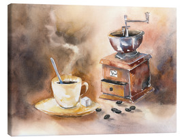 Canvas  The smell of coffee - Jitka Krause