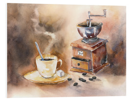 Foam board print  The smell of coffee - Jitka Krause