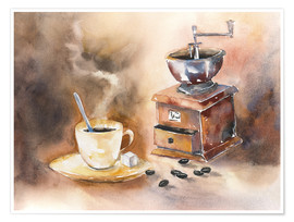 Premium poster  The smell of coffee - Jitka Krause