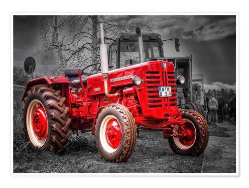 Premium poster McCormick tractor Oldtimer