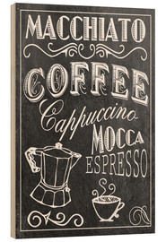 Wood print  Coffee Print - GreenNest