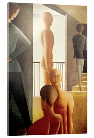 Acrylic print  Five men in the room - Oskar Schlemmer
