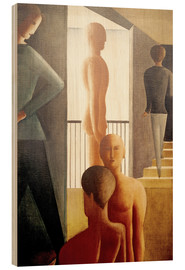 Wood  Five men in the room - Oskar Schlemmer