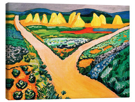 Canvas print  Vegetable Fields - August Macke