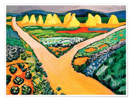 Premium poster  Vegetable Fields - August Macke