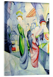 Acrylic print  Women in front of a hat shop - August Macke