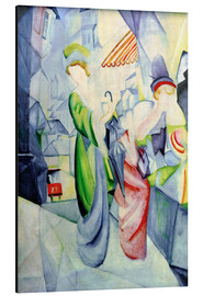 Aluminium print  Women in front of a hat shop - August Macke