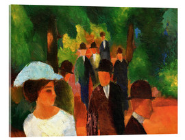 Acrylic print  Promenade (with white girl) - August Macke