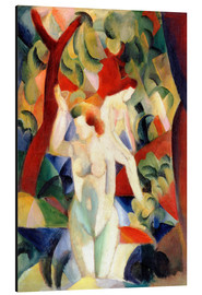 Aluminium print  Bathing women - August Macke