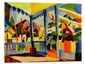 Acrylic print  Terrace of the country house in St. Germain - August Macke