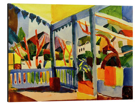 Aluminium print  Terrace of the country house in St. Germain - August Macke
