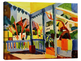 Canvas print  Terrace of the country house in St. Germain - August Macke