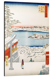 Aluminium print  View from the hill of the shrine Yushima Tenjin - Utagawa Hiroshige