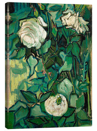 Canvas print  Roses and Beetle - Vincent van Gogh