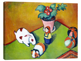 Canvas  Walterchens toys - August Macke