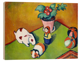 Wood print  Walterchens toys - August Macke