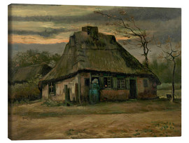 Canvas  Farmhouse - Vincent van Gogh