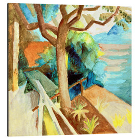 Aluminium print  After Sunset by the Lake - August Macke