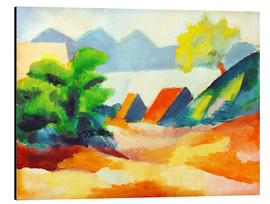 Aluminium print  By the lake Thun I - August Macke