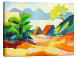 Canvas  By the lake Thun I - August Macke