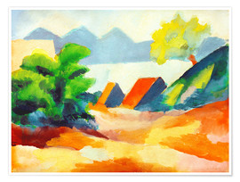 Premium poster  By the lake Thun I - August Macke