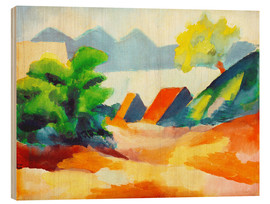Wood print  By the lake Thun I - August Macke