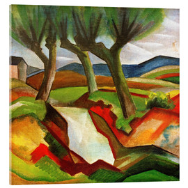 Acrylic print  Willows by the Brook - August Macke