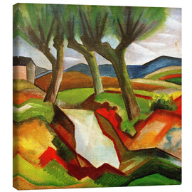 Canvas print  Willows by the Brook - August Macke