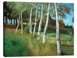 Canvas print  Birches in the marsh - Otto Modersohn