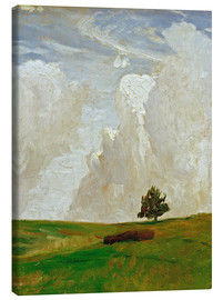 Canvas print  Mountains of clouds - Otto Modersohn