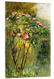 Foam board print  The rose bush - Gustave Caillebotte