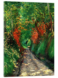 Acrylic print  Forest path - Gustave Caillebotte