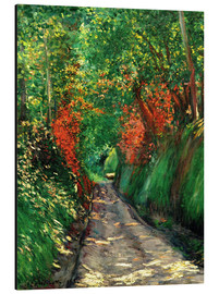 Aluminium print  Forest path - Gustave Caillebotte