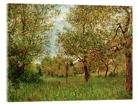 Acrylic print  Small Meadow in By - Alfred Sisley
