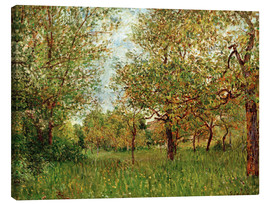 Canvas print  Small Meadow in By - Alfred Sisley