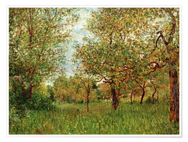 Premium poster  Small Meadow in By - Alfred Sisley