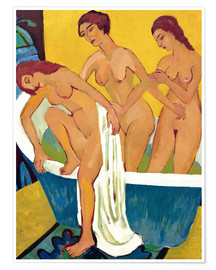 Premium poster Bathing Women