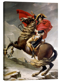 Canvas print  Napoleon crossing the Alps - Jacques-Louis David