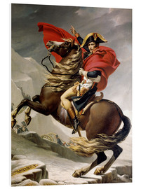 Foam board print  Napoleon crossing the Alps - Jacques-Louis David