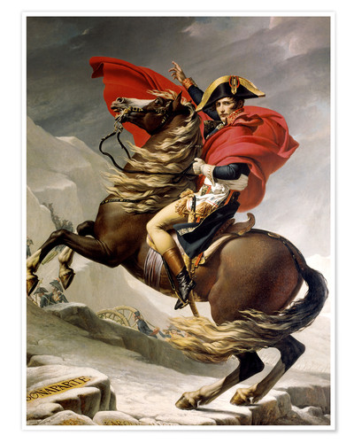 Premium poster Napoleon crossing the Alps