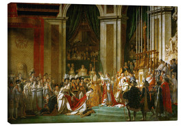 Canvas print  The Coronation of Napoleon - Jacques-Louis David