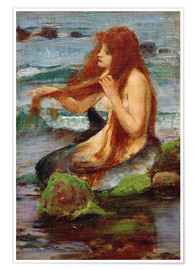 Premium poster  A Mermaid - John William Waterhouse
